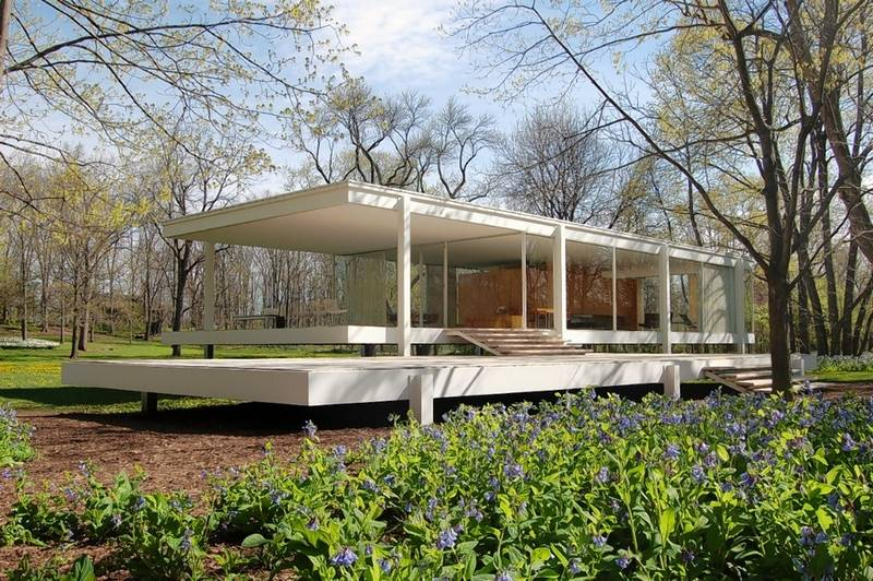 The Farnsworth House in Plano.