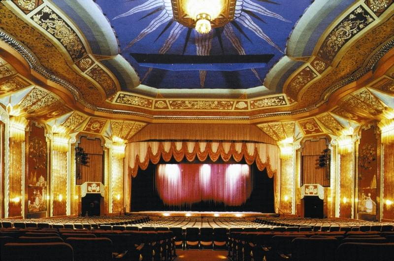 The Paramount Theatre's 1931 art deco auditorium in downtown Aurora.