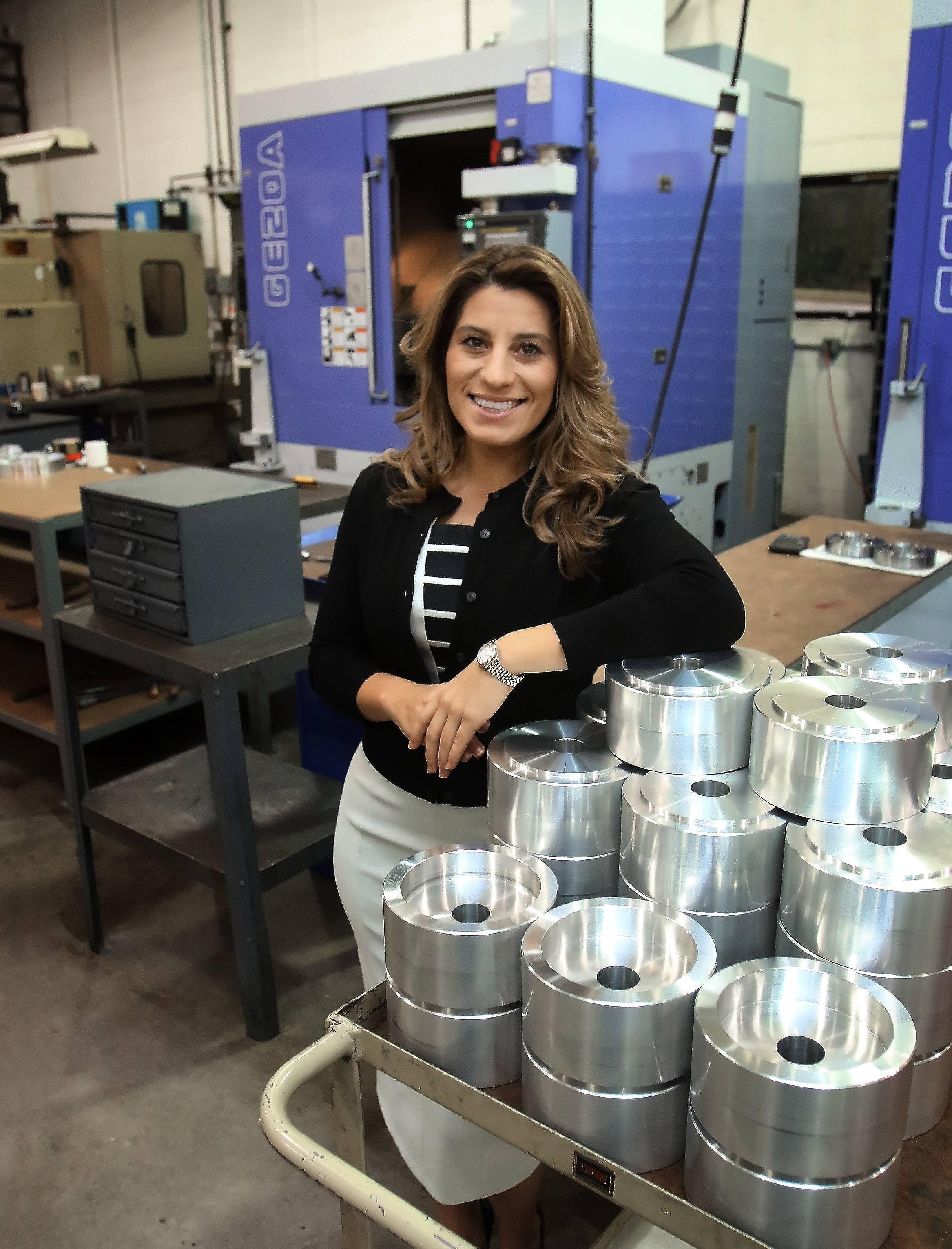 Nicole Wolter is president and CEO of HM Manufacturing in Wauconda.