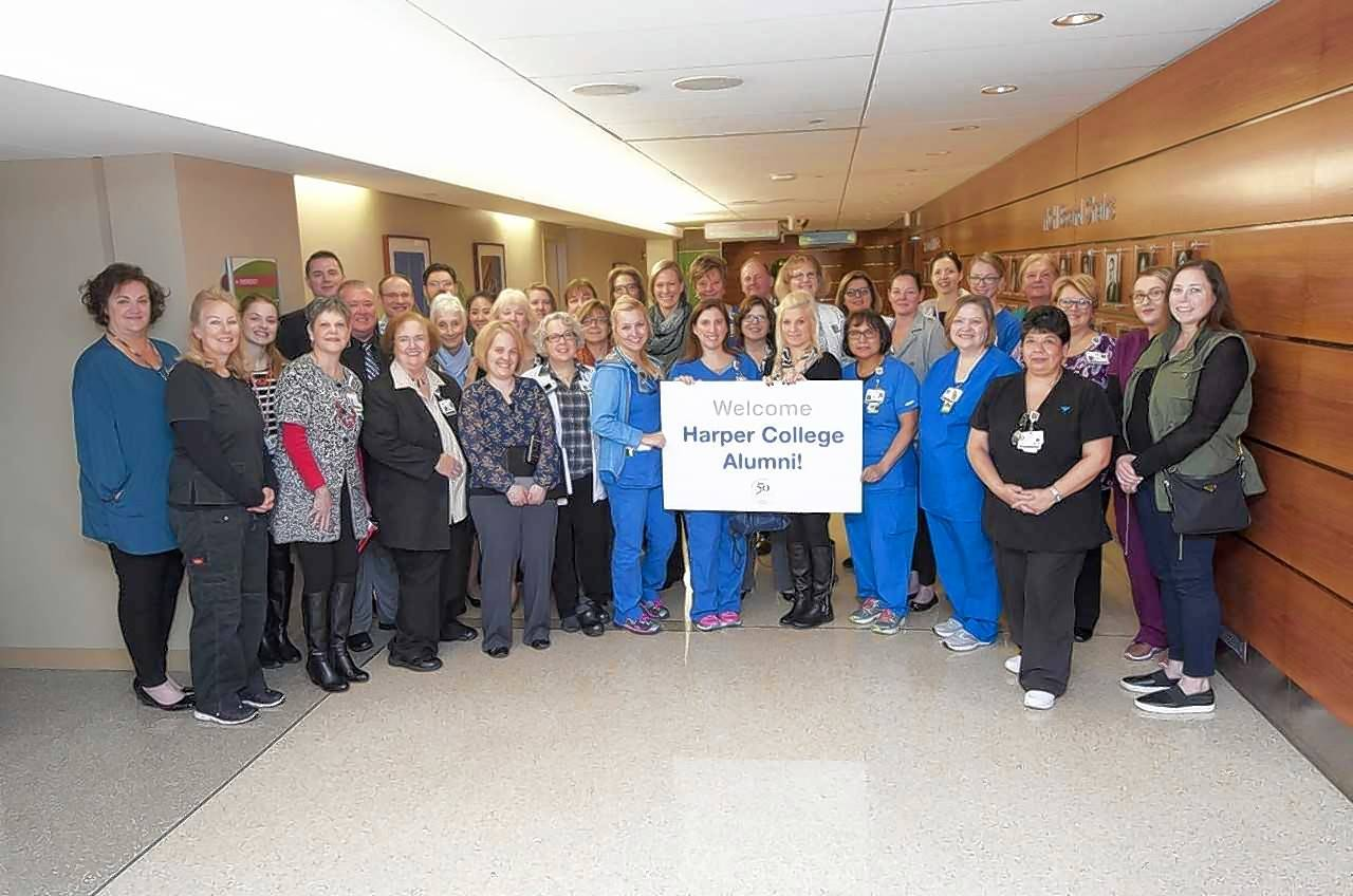 Harper College recognizes Northwest Community Healthcare through its Stand Up and Be Counted program, which honors area employers for hiring Harper alumni.