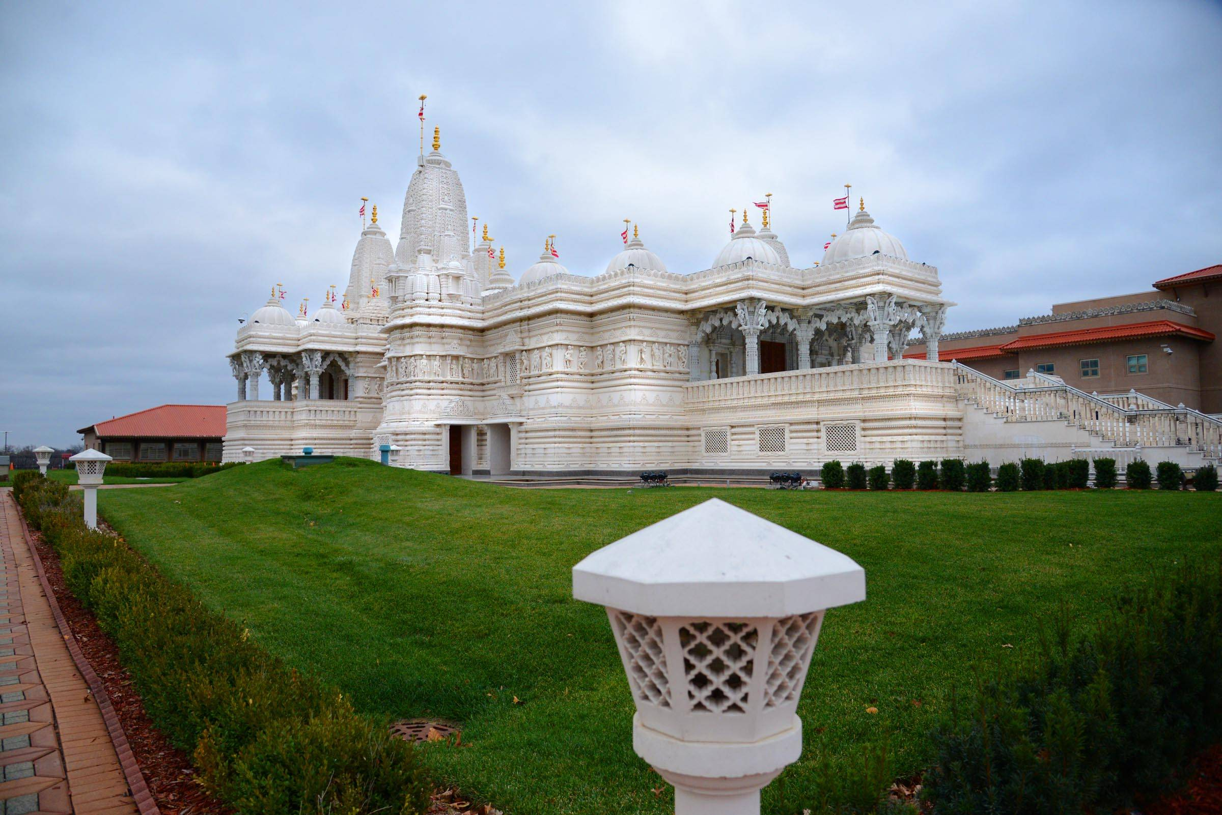 The BAPS Shri Swaminarayan Mandir in Bartlett off Route 59 was constructed with 7,000 tons of Italian Carrara marble and Turkish limestone, hand-carved in India and assembled in Bartlett. The temple has been given permission to open a satellite location for religious gatherings and services in Lake in the Hills.
