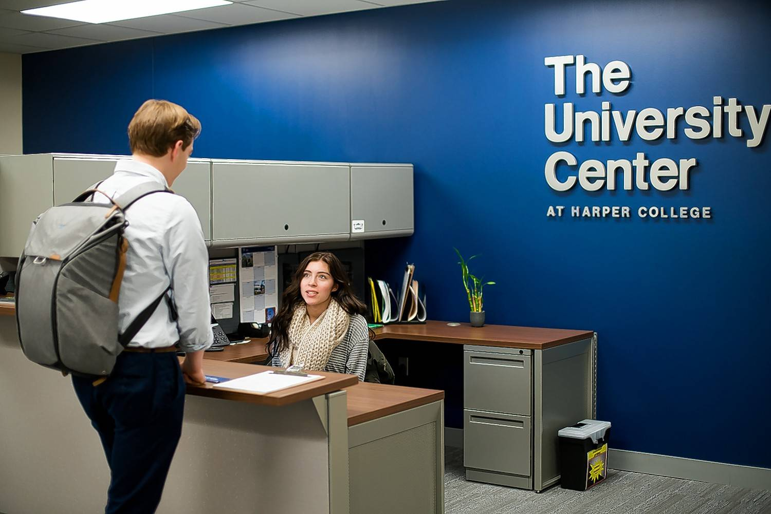 Harper College plans to officially dedicate its University Center Wednesday as part of new academic partnerships it has established with DePaul, Roosevelt and Northern Illinois universities.