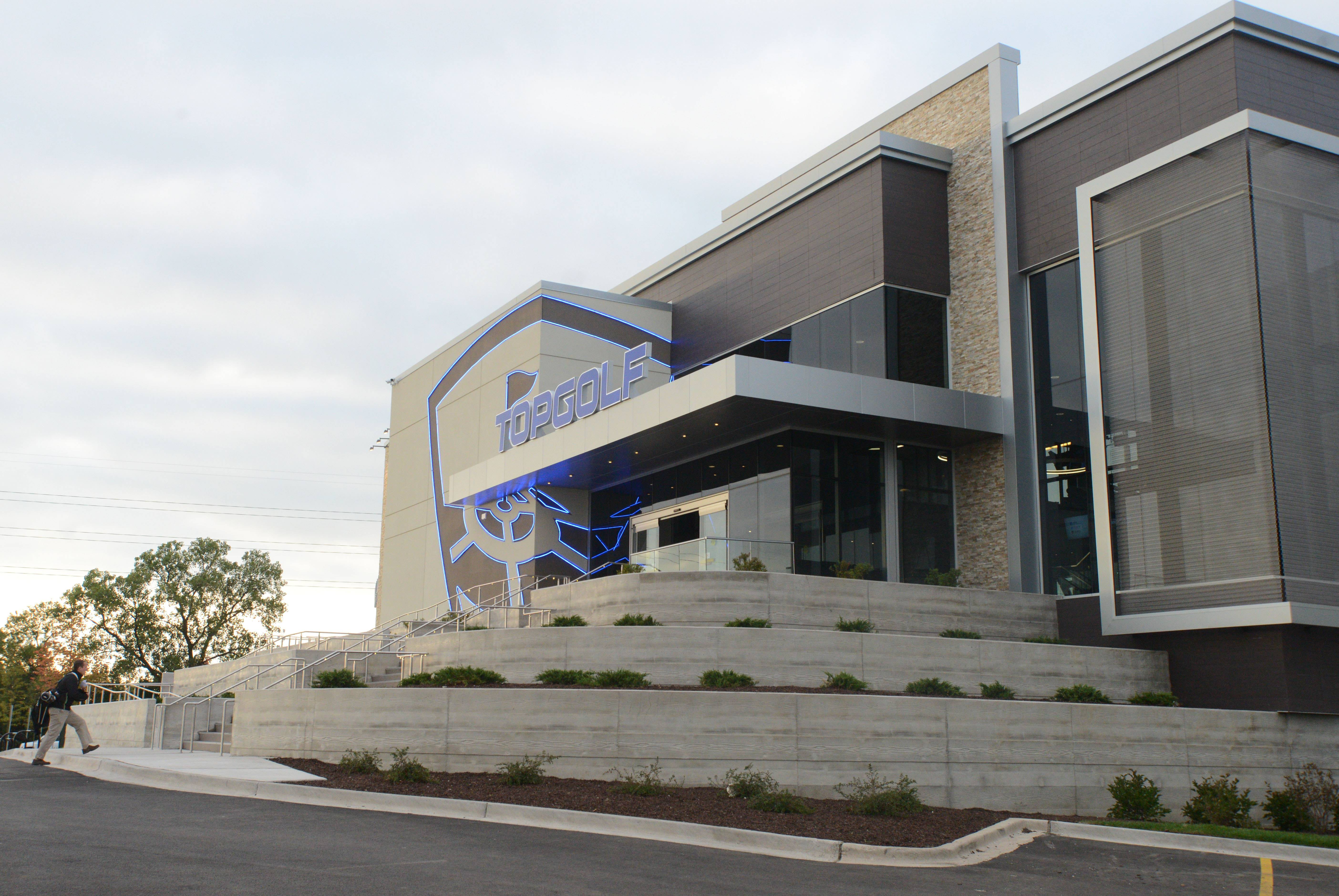 Topgolf, which has this location in Naperville, has been announced as the first entity moving to the redeveloped former Motorola Solutions campus in Schaumburg.
