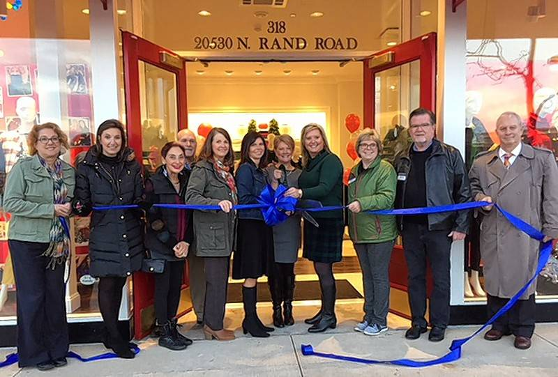 The Barrington Area Chamber of Commerce gathered for a ribbon cutting to celebrate the reopening of the newly remodeled Talbots in Deer Park Town Center, located at 20530 N. Rand Road, 318, in Deer Park.