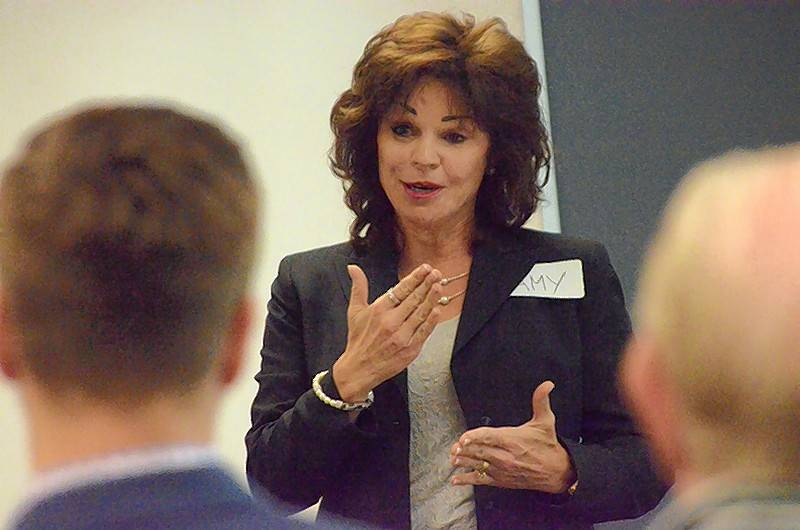 "Amy Simatos, president of Gilberts-based AIM Training and Consulting, Inc., explored ""From Zero to Sales Hero"" at Aurora University Nov. 14. Simatos keynoted the bimonthly AU Sales Institute, a series of free, public workshops at AU's Orchard Center campus in Aurora."