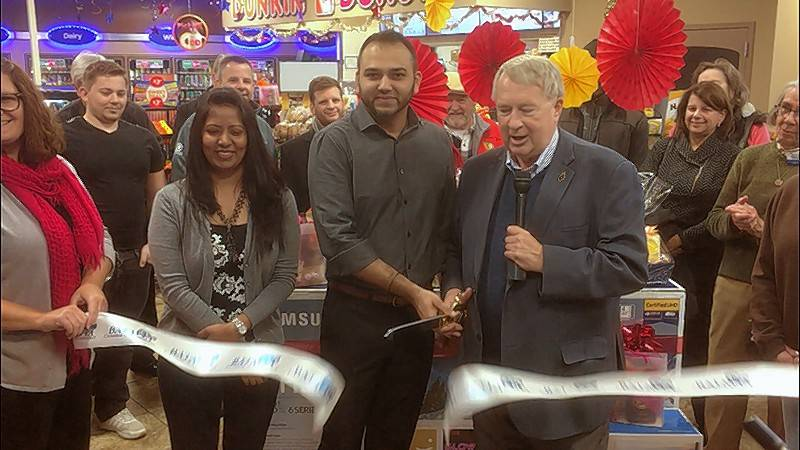 The Batavia Chamber of Commerce held a ribbon-cutting ceremony for Circle K and Dunkin' Donuts, 108 N. Batavia Ave. Batavia Mayor Jeffery Schielke, owner Harry Mehta, Holly Deitchman, Batavia Chamber President and other community representatives attended the event.