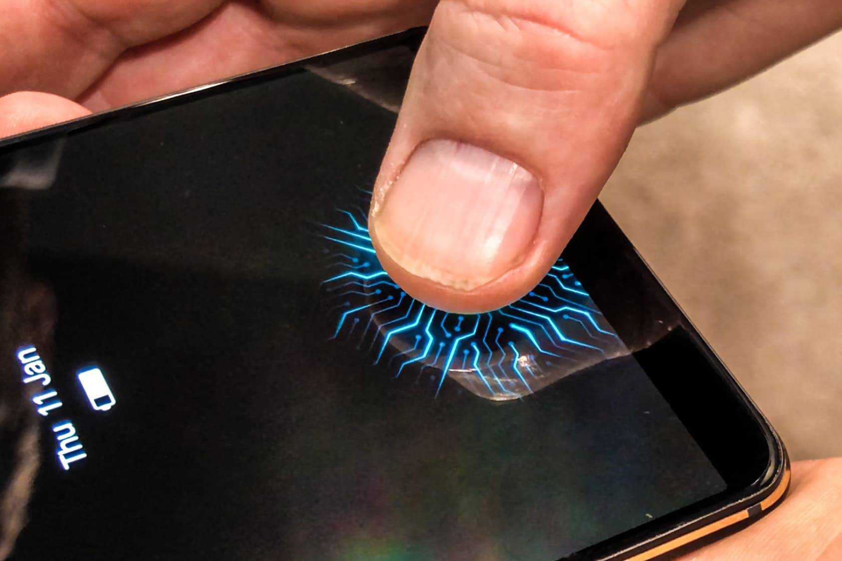 A new phone from Chinese maker Vivo has its fingerprint reader embedded in its screen, using a technology from Synaptics.