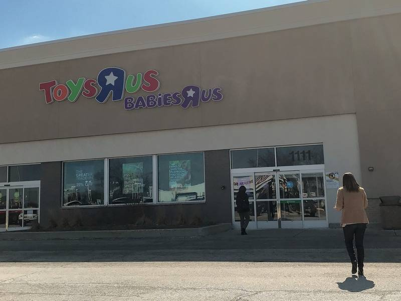The Toys R Us store in Schaumburg was bustling with shoppers after the company said it would sell or close all its store.