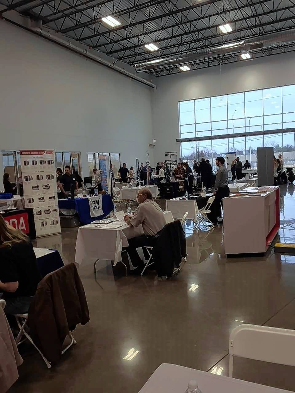 About 50 local employers took part in the Golden Corridor Advanced Manufacturing Partnership's Manufacturing Career Fair at MC Machinery's new headquarters in Elk Grove Village.
