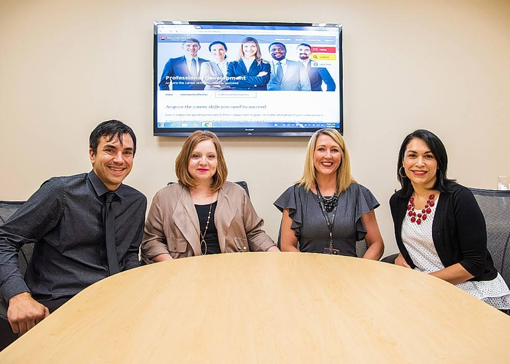 Turn to the PROs in Corporate Training at Waubonsee Community College - from left,  Steven Poss, Elizabeth Moe Garcia, Heidi Vicino and Edith Rojas - for all of your business training needs.