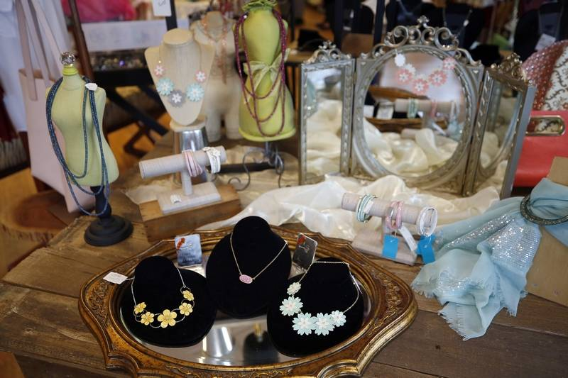 Brian Hill/bhill@dailyherald.comSome of the jewelry for sale at Boutique Repeats & Gifts in Aurora.