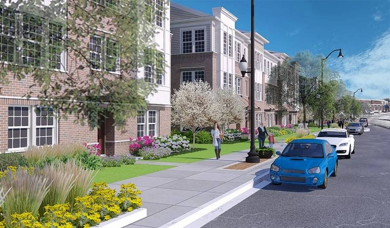 A proposal for the Towns at Naperville Crossings would include 55 townhouses on a site previously zoned for commercial use at 95th Street and Route 59 in Naperville.