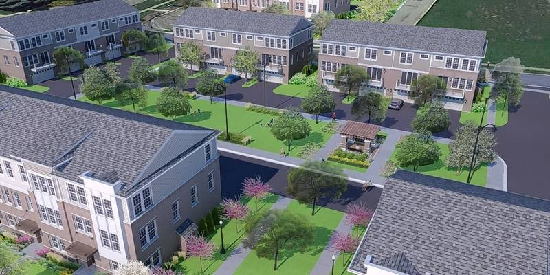 The Towns at Naperville Crossings is a proposed 55-unit townhouse subdivision planned for one of the internal lots at 95th Street and Route 59 in Naperville.