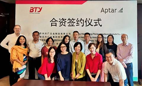 Crystal Lake-based AptarGroup Inc. said it has acquired a 49% equity interest in three related BTY companies: Suzhou Hsing Kwang, Suqian Hsing Kwang and Suzhou BTY, collectively referred to as BTY.