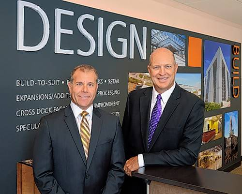 Jim Brucato, left, and Mark Augustyn, founders of Principle Construction Corp. in Rosemont, which is celebrating its 20th anniversary in business