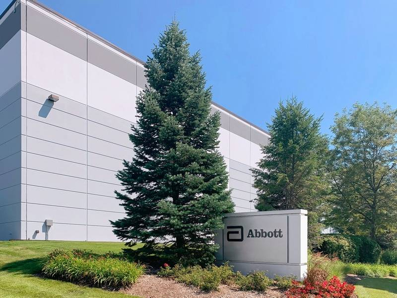 Abbott has leased this building in Gurnee to produce its new $5 rapid COVID-19 test.