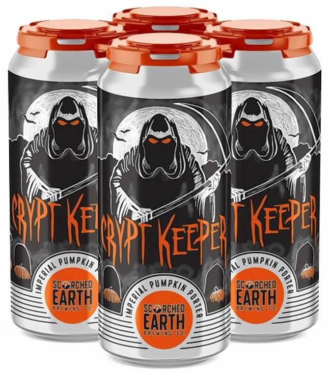 This year, Algonquin-based Scorched Earth Brewing Co. will offer the fan favorite fall Crypt Keeper in cans.