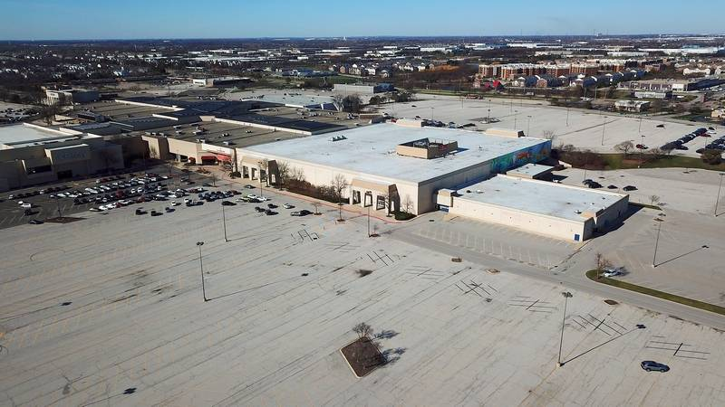 A developer has proposed redeveloping roughly 11 acres on the east end of the Fox Valley Mall in Aurora. The plan includes razing the vacant Sears store.